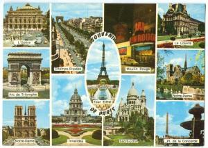 France, Souvenir de Paris, 1986 used Postcard