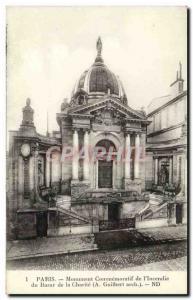 Paris - Monument & # 39Incendie the Bazar de la Charite - Old Postcard