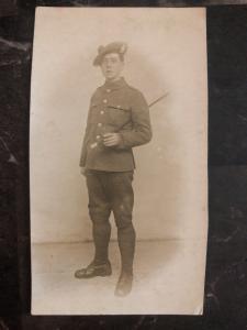 Mint British Army RPPC Postcard WW1 Scotland Soldier Royal Scots