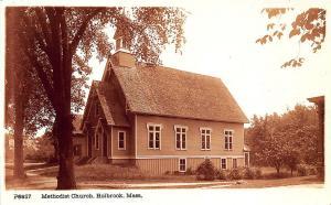 Holbrook MA Methodist Church Underwood & Underwood RPPC Postcard