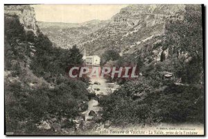 Old Postcard Fontaine De Vaucluse Taking Fountain Valley