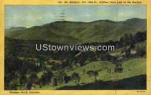 Mount Mitchell, North Carolina, NC, Post Card Mount Mitchell NC 1951
