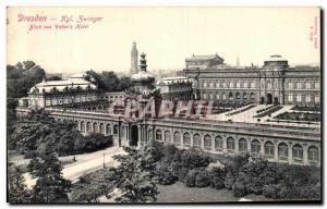 Old Postcard Kgl Dresden Zwinger Blick von Weber's Hotel