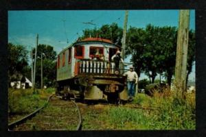 IA Trolley Car MASON CITY CLEAR LAKE IOWA Postcard PC