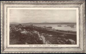Falkland Islands, PORT STANLEY, Panorama (1910s)