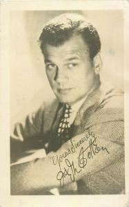 The Selznick Studio film star actor printed autograph signature post card