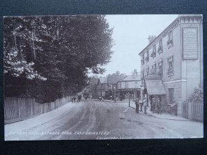 EAST GRINSTEAD Railway Hotel & London Road shows A.J. CLARK Store c1904 Postcard