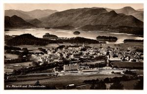 Aerial view of Keswick  and Derwentwater England  RPC
