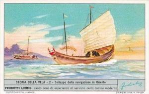Liebig Trade Card S1803 Story of Sail No 2 Sviluppo della navigazione in Oriente