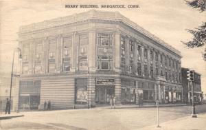 Naugatuck Connecticut~Neary Building~Donovan's Pharmacy~1940 Collotype Postcard