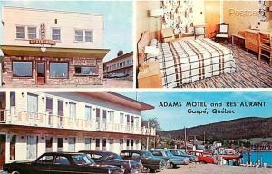 Canada, Quebec, Gaspe, Adams Motel & Restaurant, W. Schermer No. 71685-B