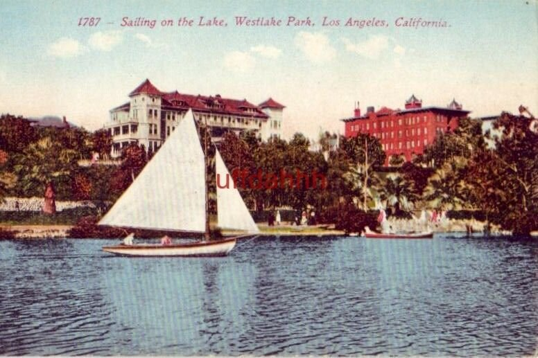 SAILING ON THE LAKE, WESTLAKE PARK, LOS ANGELES, CA