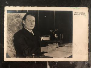 1934 Germany Real picture Postcard RPPC cover to Berkeley CA USA Hermann Göring