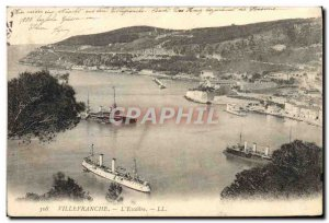 Old Postcard Villefranche L & # 39Escadre Charter