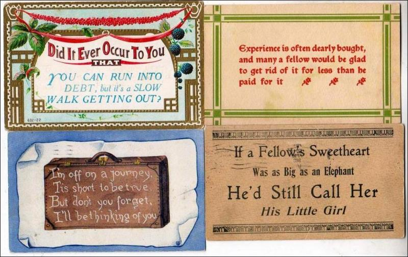 4 - Old Cards with Verses