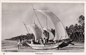 Sri Lanka Ceylon Native Fishing Boats 1961 Real Photo