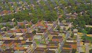 Aerial of Newton, North Carolina, 40-60s