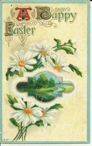 A Happy Easter Flowers  Embossed