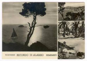 RP, 4Views, Souvenir Ricordo Di Alassio (Savona), Liguria, Italy, 1930-50s