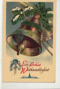Christmas 1934 greetings postcard Germany bells bell