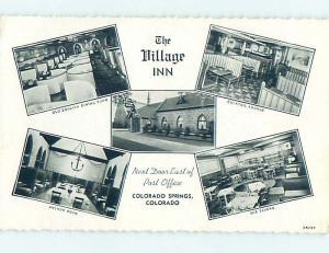 Unused 1940's THE VILLAGE INN Colorado Springs Colorado CO L0491