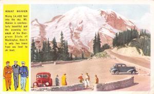 Washington Mount Rainier Mountains Cars