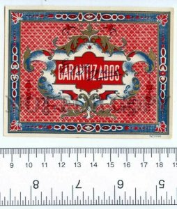 500111 GARANTIZADOS Vintage cigar box label