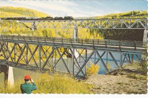 B.C.R. Train , East Pine Bridges , B.C. , 50-60s