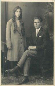 Postcard Social history couple portrait