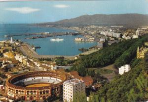 MALAGA, Andalucia, Spain; Partial View, Stadium, 50-70s