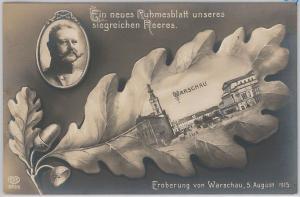 POLAND -  Vintage Postcard archiwalne pocztówki - WARSAW 1915 - VERY NICE!!