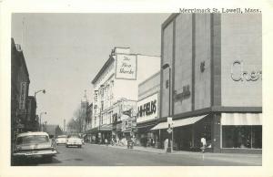 MA, Lowell, Massachusetts, Merrimack Street, Merrimack Picture Picture Post Card