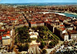 France Lyon Vue aerienne Place Carnot 1970