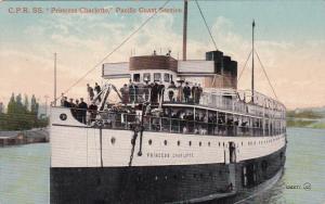 C.P.R. Steamship Princess Charlotte , Pacific Coast Service , 00-10s