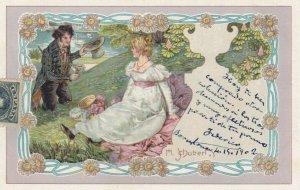 Art Nouveau Couple ; Artist SCHUBERT , PU-1902 ; #4