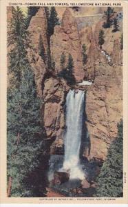 Wyoming Yellowstone National Park Tower Fall And Towers 1949