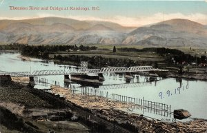 br105833 thomson river and bridge at  kamloops canada british columbia