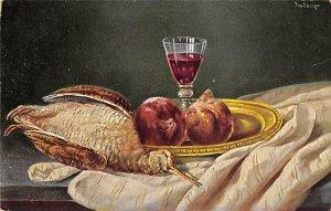 Bird and Wine Still Life PU Unknown