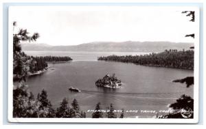 Postcard Emerald Bay, Lake Tahoe, CA 1940 RPPC H11