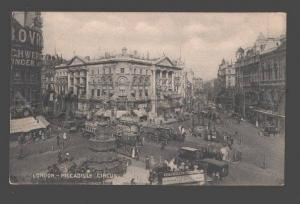 092263 UK London Piccadilly Circus Vintage PC