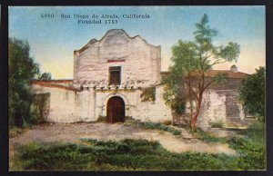 California San Diego de Alcala Founded 1769 by Pacific Novelty Co. Divided Back