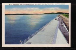 Tennessee colour PC Cherokee Dam, TVA on Holston River unused