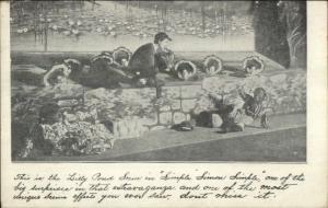 Black Americana - Simple Simon Play Pond Scene c1905 Postcard
