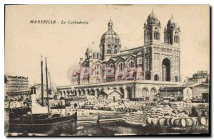 Old Postcard Marseille La Cathedrale