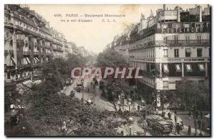 Paris Postcard Old Boulevard Montmartre Vu theft & # 39oiseau