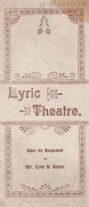 Florodora Ceredigion Welsh Castle Antique Victorian Theatre Programme