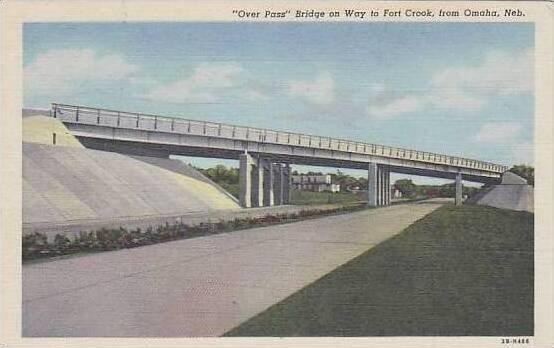 Nebraska Omaha Bridge On Way To Fort Crook Over Pass