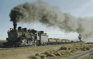 Cumbres and Toltec Scenic Railroad Postcard Denver & Rio Grande Western No. 497