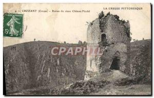 Old Postcard Crozant reunited the old Chateau Feodal