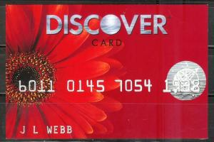 USA 2008, Discover Card Advertising card - Gerbera Daisy, unused